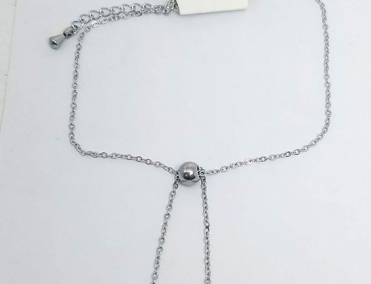 V an Cleef Necklace Silver Double Face Jewelry Crystals Diamonds