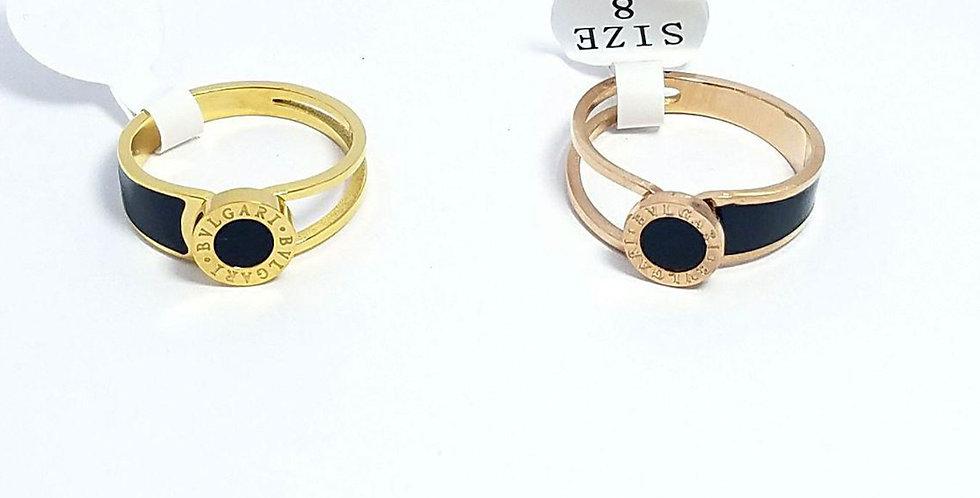 Bulgari Ring Zirconia Cubic Diamond Gold Diamond Jewelry