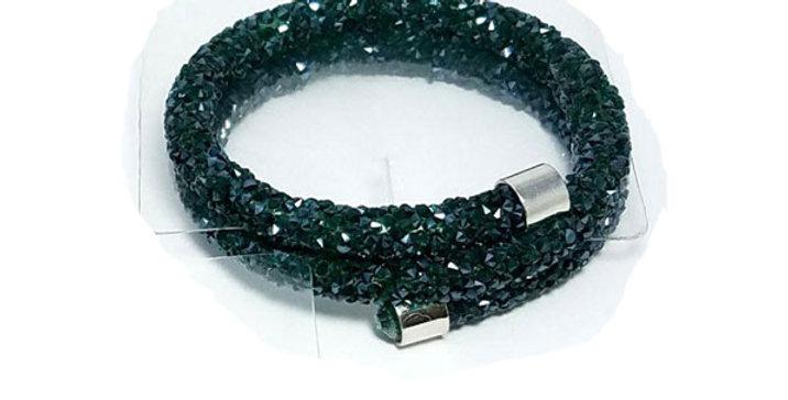 Swarovski Bracelet Black Zirconia Diamond jewelry  Wristband