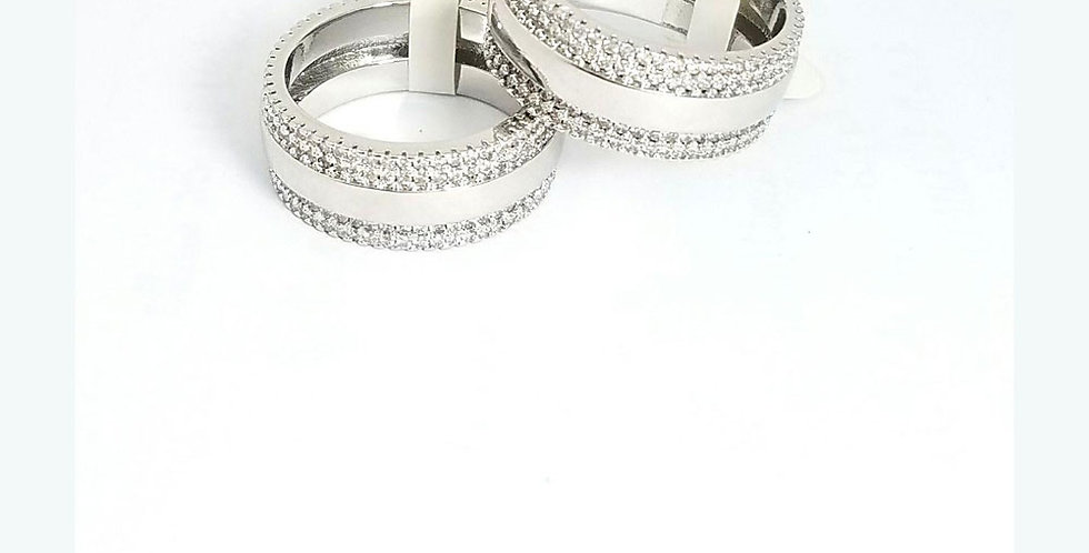 Ring Original Zirconia Cubic Gold Silver Twins