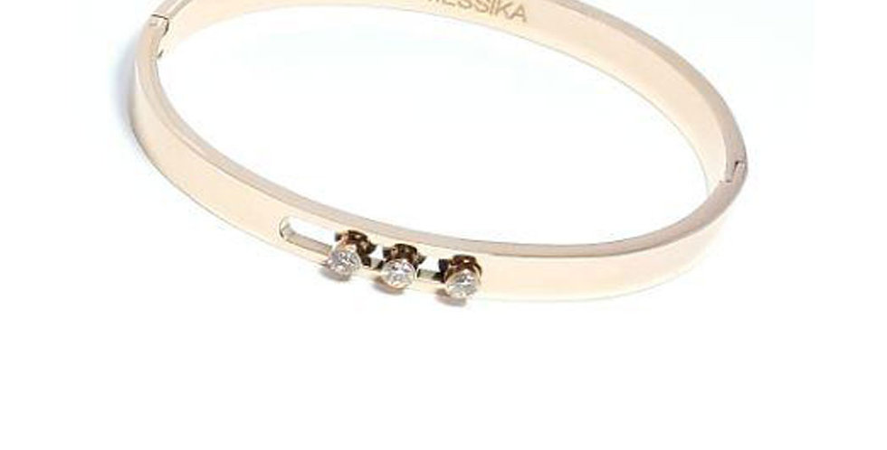 Tiffany & co Bracelet embellished Zircon Cubic Rose Gold