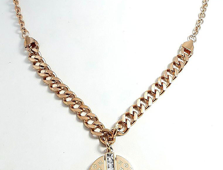 Louis Vuitton Necklace Rose Gold Jewelry Diamond
