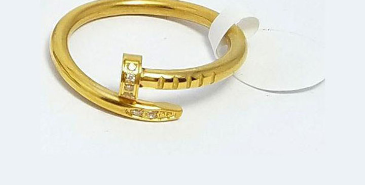 Cartier Ring Gold Zirconia Cubic Diamond Jewelry