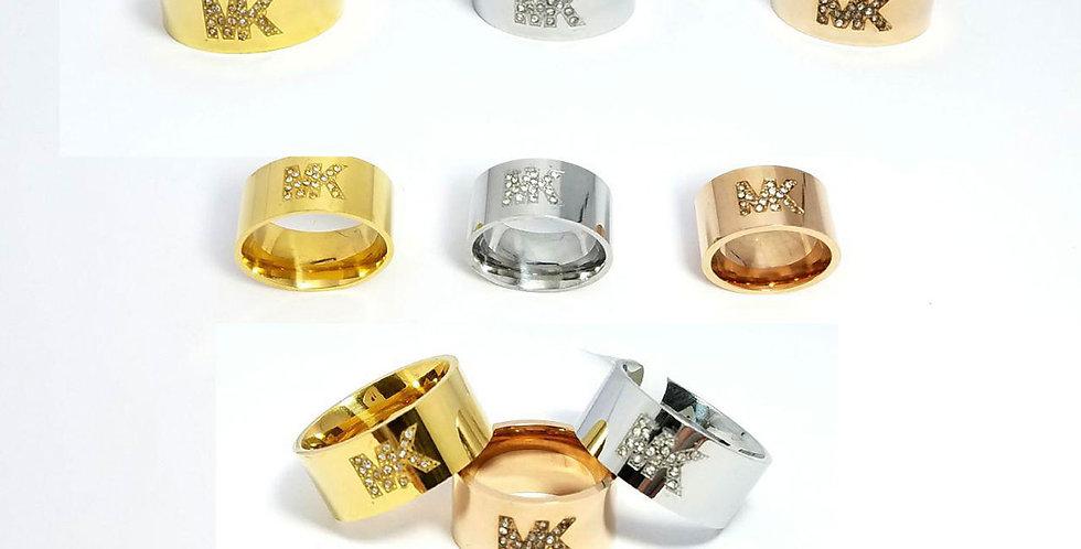 Michael Kors Ring Zirconia Crystals Diamond Silver Gold Jewelry
