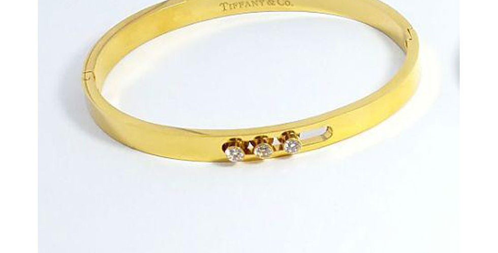 Tiffany & co Bracelet embellished Zircon Cubic Gold