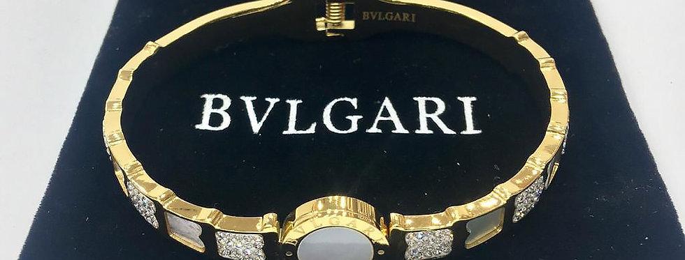 Bvlgari Bracelet Gold Jewelry Accessories Zirconia Crystals Stones