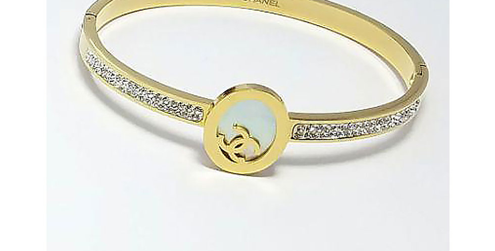 Chanel Bracelet Gold Jewelry Accessoris Zirconia Crystals