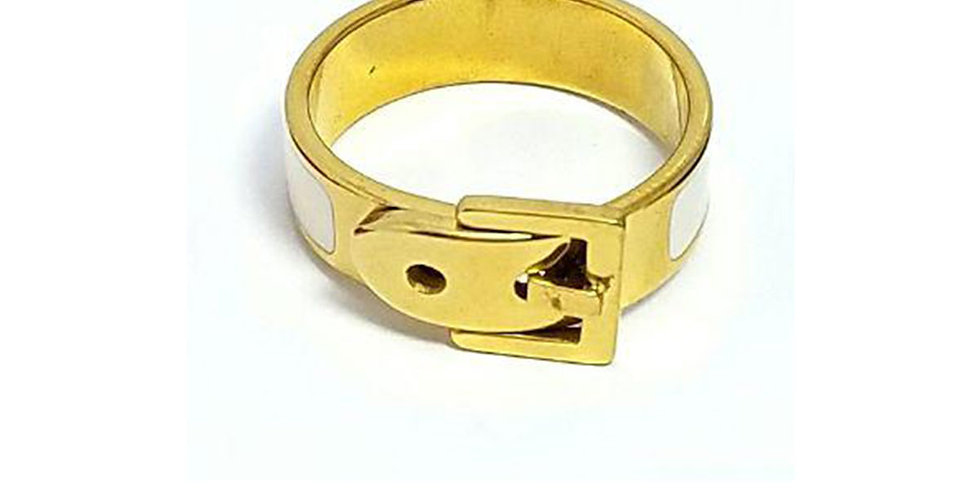 Bulgari Ring  Gold Wrist Front View Zirconia Diamond
