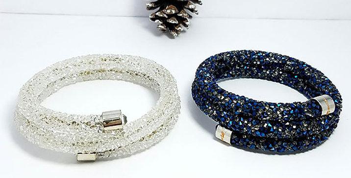 Swarovski Bracelet White Black Zirconia Diamond jewelry  Wristband