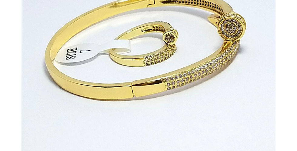 Ring Original Zirconia Cubic Gold Silver Diamond Bracelet