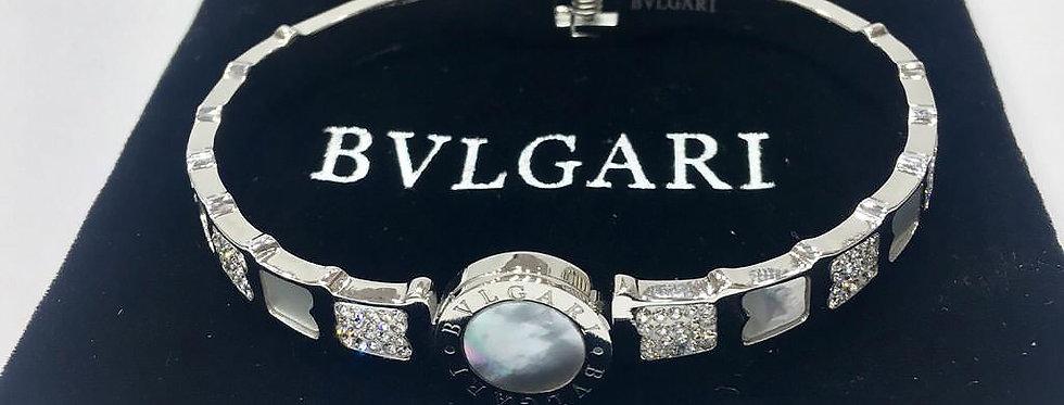 Bvlgari Bracelet Silver Jewelry Accessories Zirconia Crystals Stones