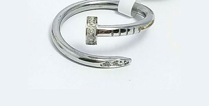 Cartier Ring Silver Zirconia Cubic Diamond Jewelry