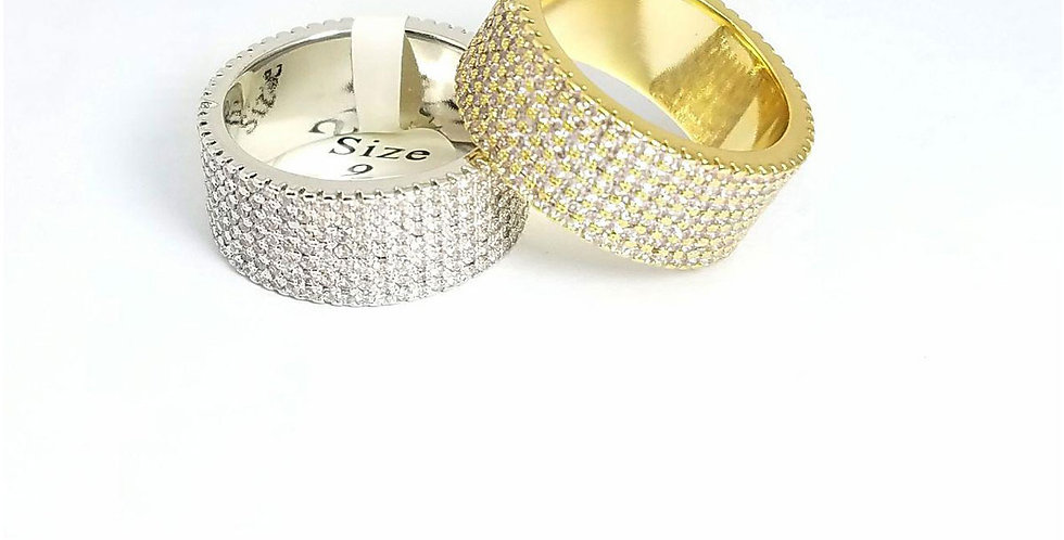 Ring Original Zirconia Cubic Gold Silver jewelry Diamond