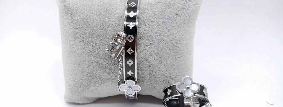 louis vuitton Bracelet Diamond Zirconia Pearl Watch Gold Ring