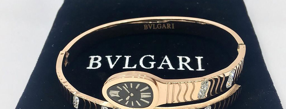 Bvlgari Bracelet Snake Rose Gold Jewelry Accessories Zirconia Crystals Watch