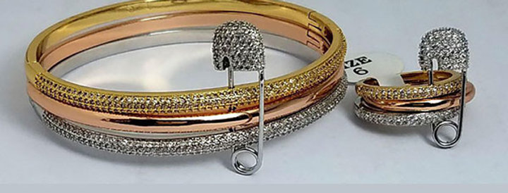 Bracelet Ring Zirconia Diamond Jewelry Accessories Gold Silver