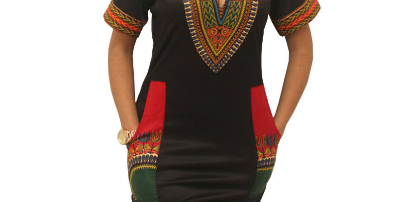 Hambelela Summer Vintage Dress Women Tunic Casual Beach Dress 2020 African Print