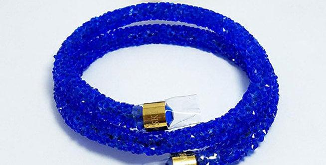 Swarovski Bracelet Blue Zirconia Diamond jewelry  Wristband