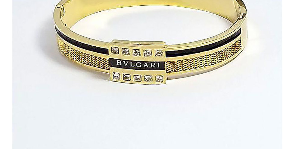 Bvlgari Bracelet Titanium Jewelry Crystals Zirconia Gold