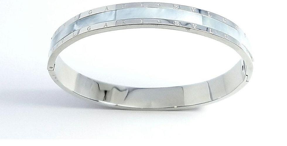 Bulgari  Bracelet Diamond Zirconia Pearl Watch Rose Gold
