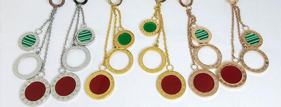 Bulgari Earings Gold Rose Silver Pendant Jewelry Accessories