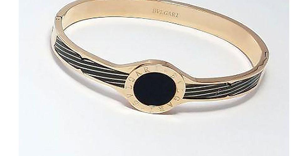 Bulgari Bracelet Rose Gold Wrist Front View Zirconia Diamond Watch