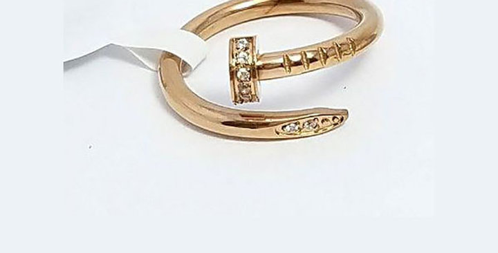 Cartier Ring Rose Gold Zirconia Cubic Diamond Jewelry