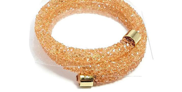 Swarovski Bracelet Beige Zirconia Diamond jewelry  Wristband