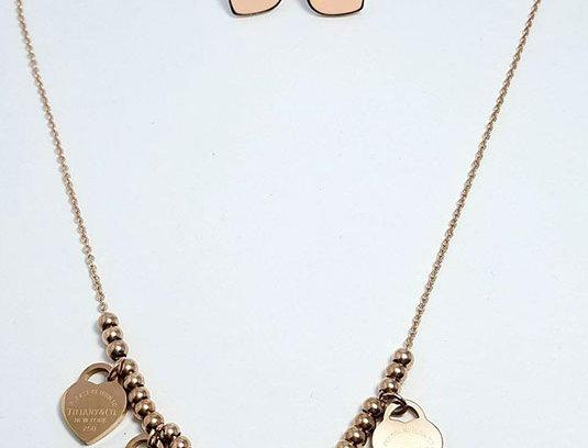 Tiffany & Co Bulgari  Earrings Diamond Zirconia Pearl Watch Rose Gold Necklace