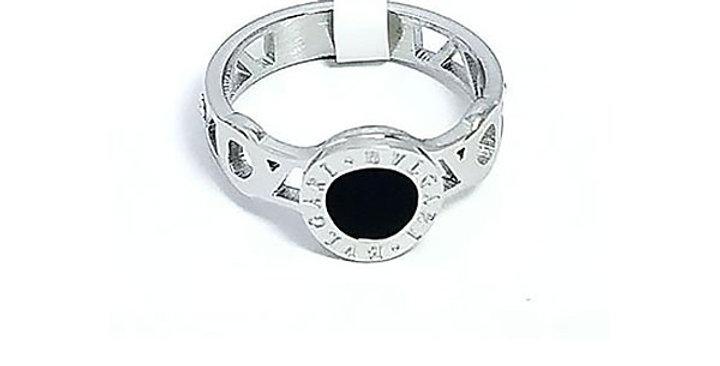 Bulagari Ring Black Gold Luxury Diamond Zirconia Silver