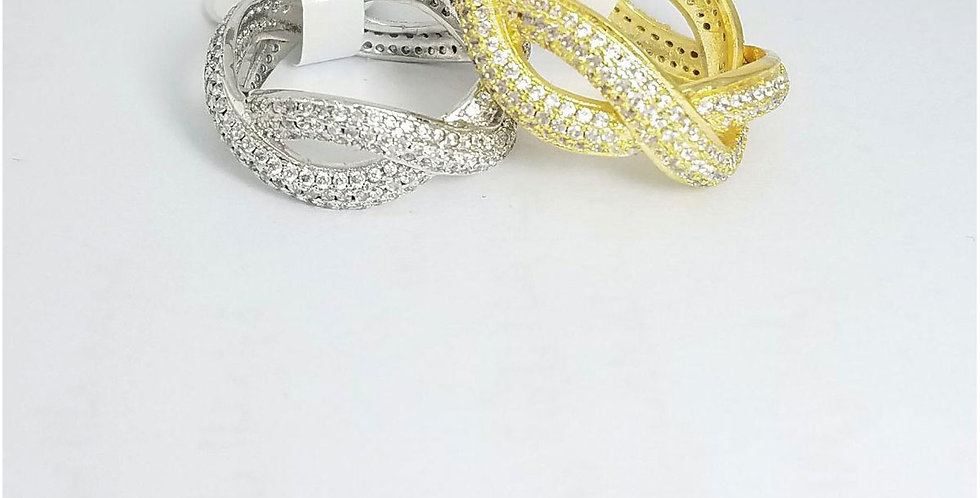 Ring Original Zirconia Cubic Gold Silver