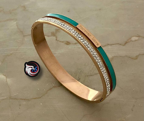 Women's stainless bracelet with zircon cubic