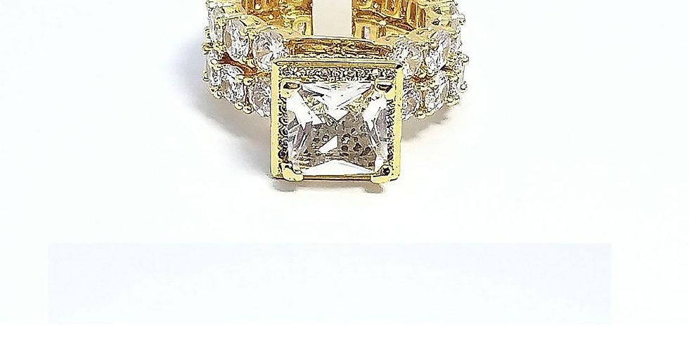 Ring Original Zirconia Cubic Gold Silver Diamond