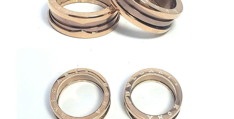 Bulgari Wedding Ring Luxury Zirconia Rose Gold Jewelry Accessories