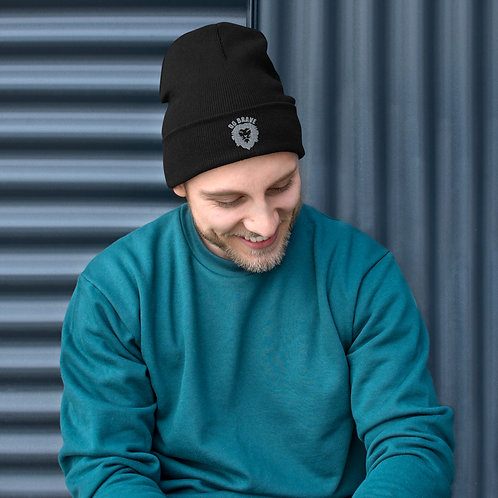Do Brave Embroidered Cuffed Beanie