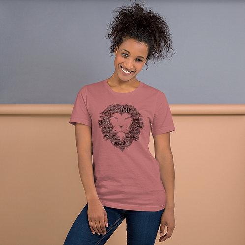 Word Art Lion Logo Unisex T-Shirt