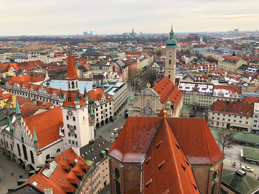 Imagen del antiguo ayuntamiento de Múnich