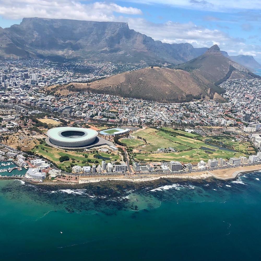 Ciudad del Cabo desde el helicóptero