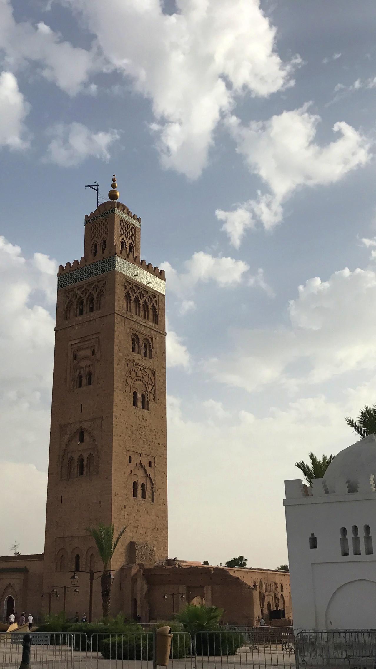 Minarete de la mezquita Koutoubia en Marrakech