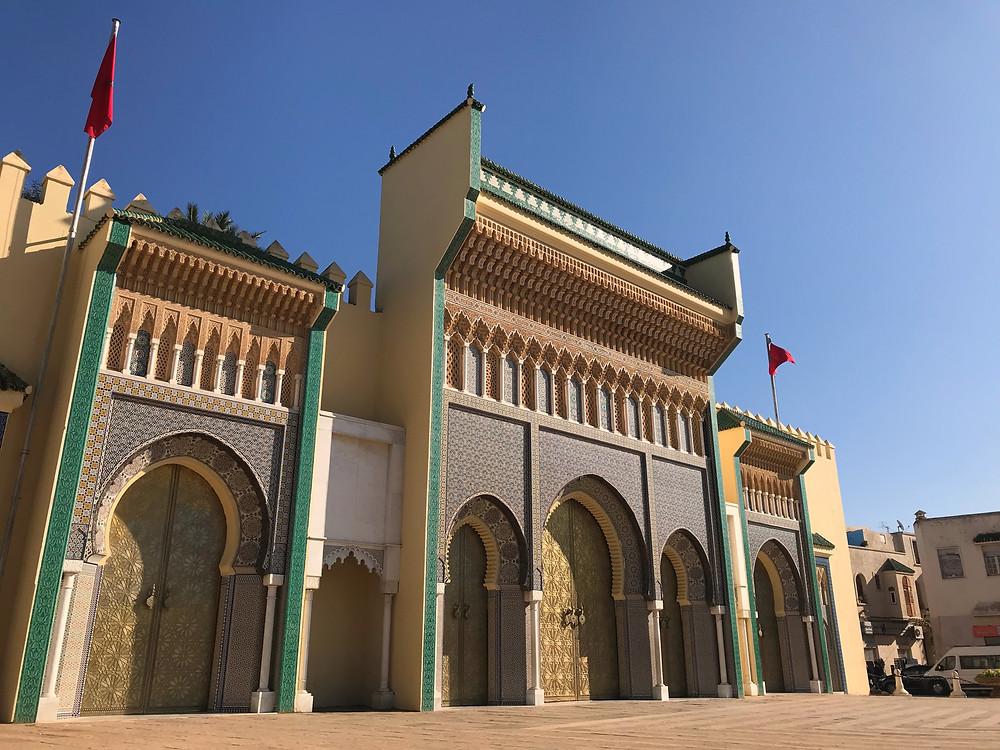 Imagen panorámica del Palacio Real de Fez