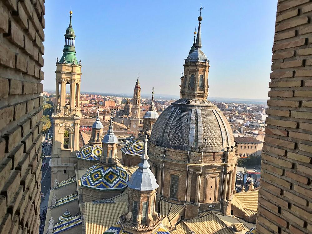 Cúpula de la basílica del Pilar vista desde la torre