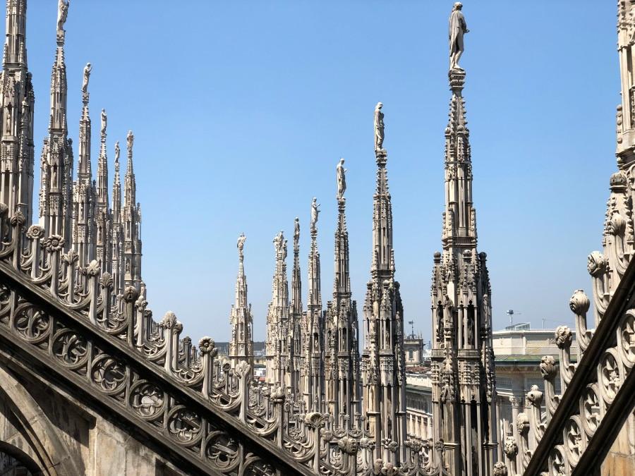 Vista del tejado del Duomo de Milan