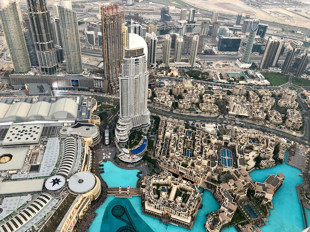 Vista panorámica desde lo alto del Burj Khalifa