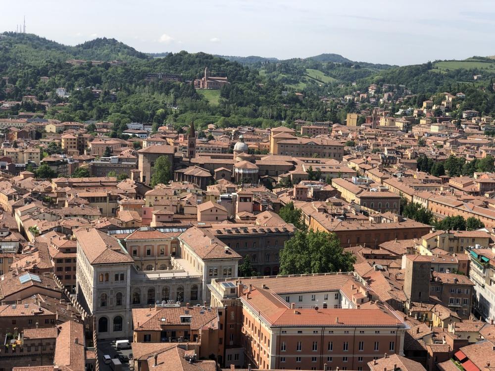 Vista panorámica desde las dos torres de Bolonia