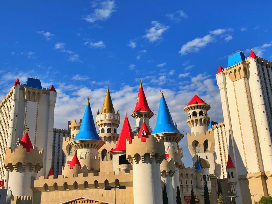 Fachada del resort Excalibur en Las Vegas