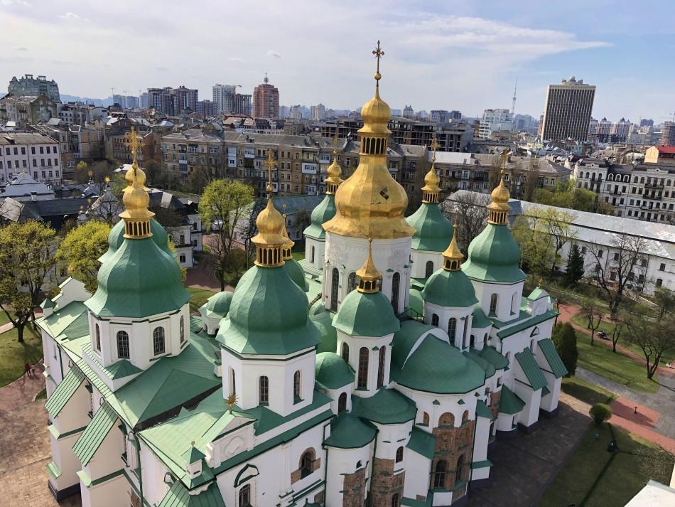 Vista panoramica Catedral Santa Sofia Kiev