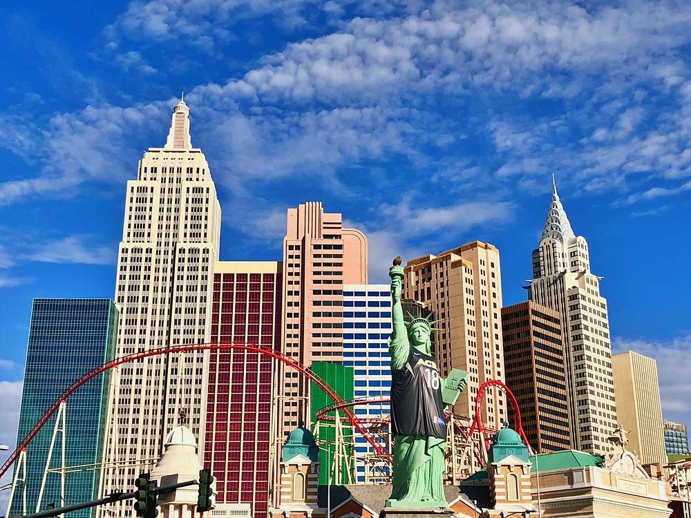 Fachada del hotel New York New York en Las Vegas