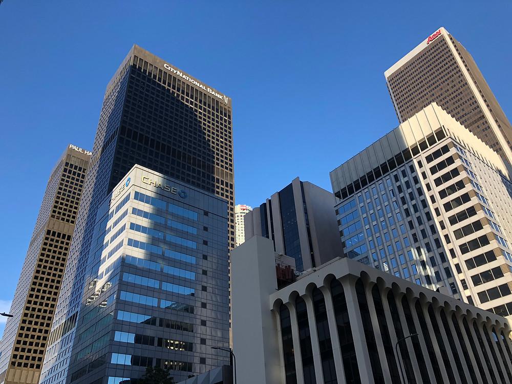 Rascacielos en el Downtown de Los Ángeles