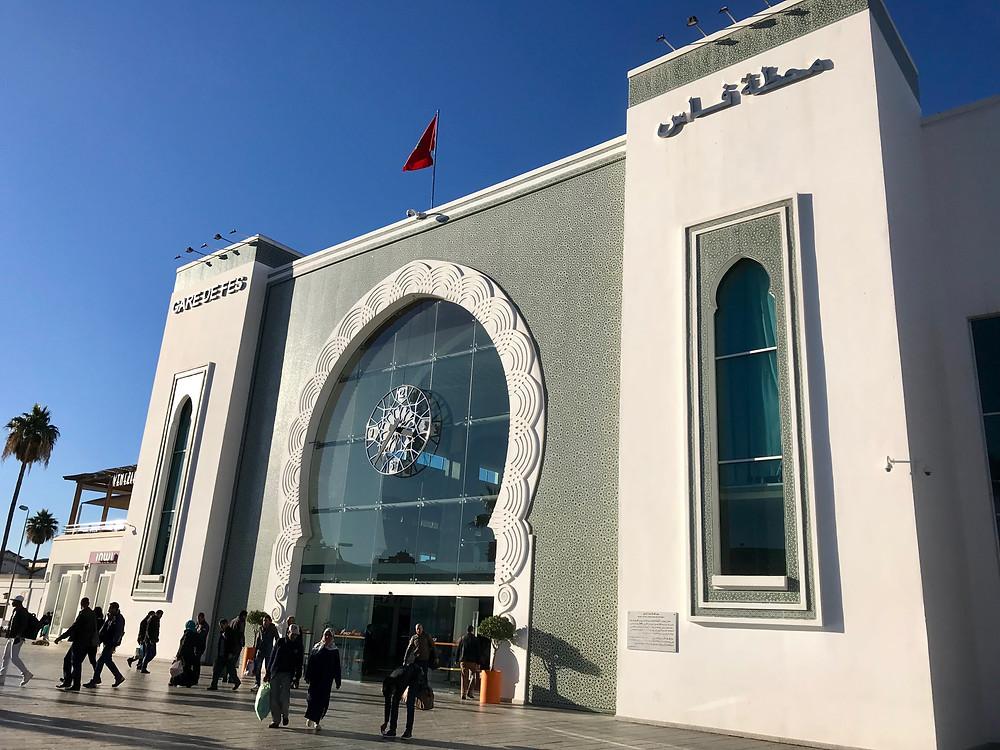 Estación de trenes de la ciudad de Fez, en Marruecos