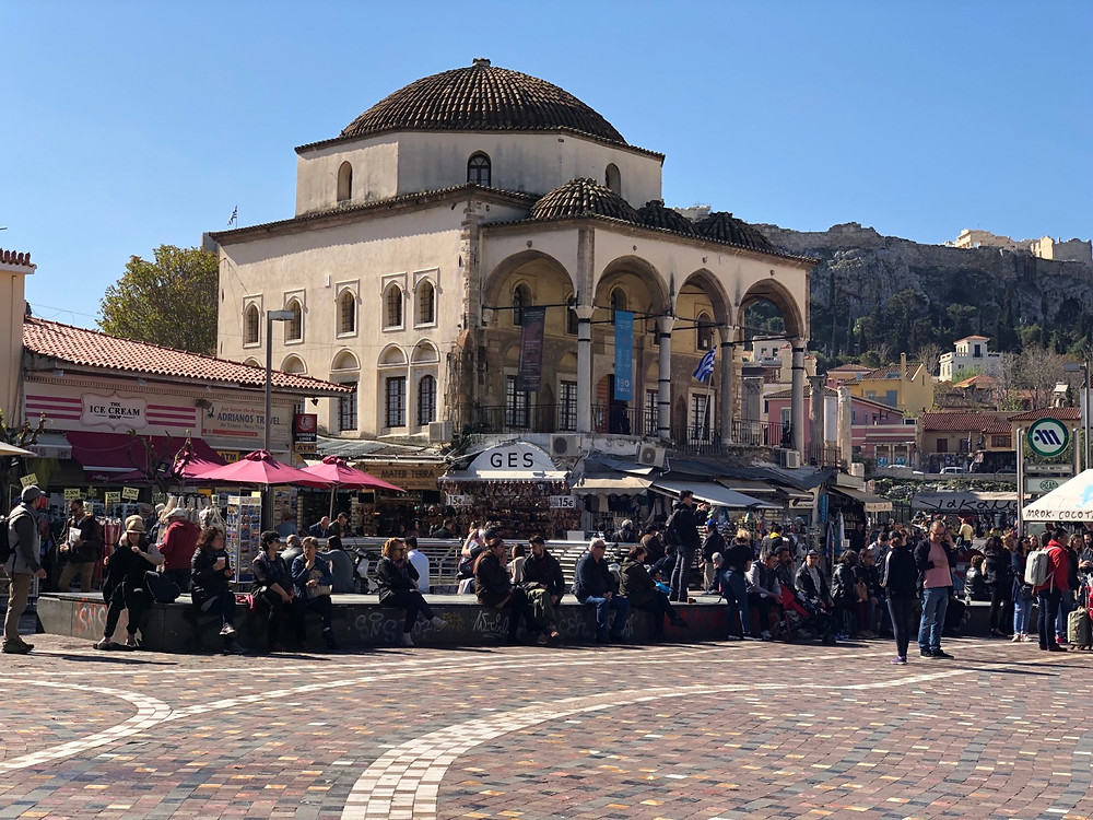 Plazaz de Monastiraki en Atenas